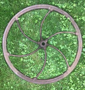 International Corn Sheller Original Cast Iron Wheel
