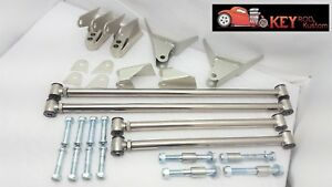 1932 Ford Triangulated 4 Link Bar Kit Polished Stainless Steel Street Rat Rod