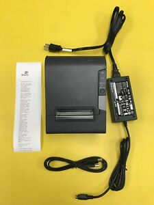 Epson Tm t88v M244a Usb Thermal Receipt Pos Printer Ac Adapter Usb Cable