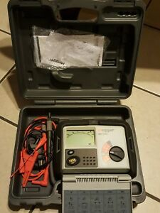Megger Mit310 Insulation Tester Lcd With Leads Manual