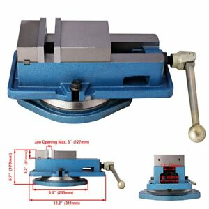 4 Milling Machine Lockdown Vise swiveling Base High Clamping Power Metal Jaws
