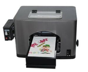 New A4 Size Flatbed Digital T shirt Printer For White Cotton T shirts