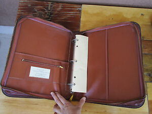 Vintage 3 Ring Binder Organizer Brown Zip Up Sons Of The American Revolution