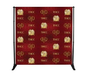 8 x8 Step Repeat Banner Stand Adjustable Telescopic Wall Trade Show Backdrop