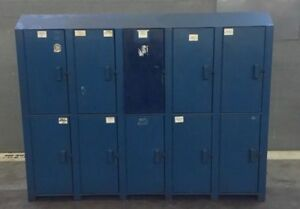 Industrial Lockers With 10 Doors