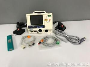 Physio Lifepak 20 Biphasic 3 Lead Ecg Spo2 Aed Pacing With Hard Paddles