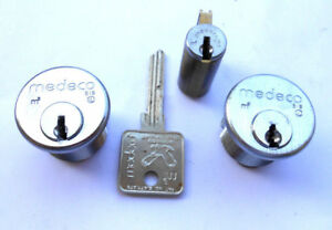 3 New Medeco Sub Assembled Cylinders And 1 Key Blank Locksmith