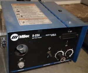 Miller 22a S 22a Welding Wire Feeder 24 Volt Excellent Free Shipping