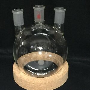 Synthware 2000 Ml Glass 3 Neck Round Bottom Flask With Vertical Sides All 24 40
