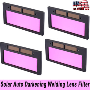 Solar Auto Darkening On off Welding Helmet Marsk Lens Filter Eye Protect Clear