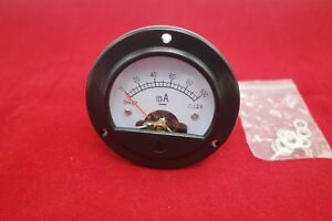 Dc 0 100ma Round Analog Ammeter Panel Current Dia 66 4mm Dh52 Direct Connect