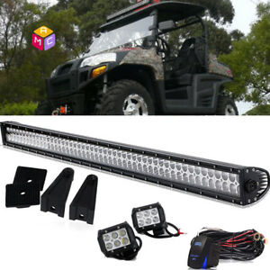 40 42 Straight Led Light Bar Spot Flood Combo Can am Commander 800 1000 Utv