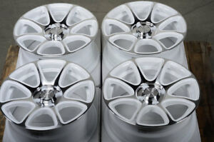15 4x100 White Wheels Fits Mazda2 Accord Integra Civic Yaris Versa 4 Lug Rims