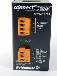 Weidmuller 992748 0024 Connect Power Supply Out 24vdc 2 3a In 115 230 Vac Nos