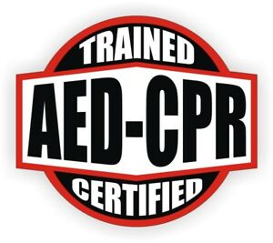 Aed Cpr Trained Certified Hard Hat Decal Helmet Sticker Emt Rescue Firefighter