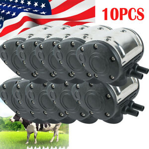 10 L80 Pneumatic Pulsator For Cattle Cow Milker Milking Machine Dairy Farm Fast