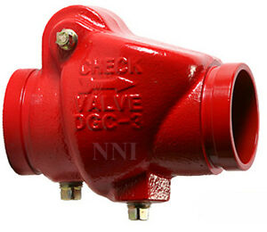 8 Grooved Swing Check Valve 300psi Ul fm Fire Protection