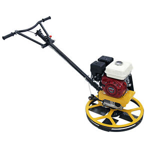 Power Trowel 24 With 6hp Engine Oil Alert Brand New Float Pan Included Teqmac