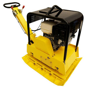 Reversible Vibratory Plate 540 Lbs 13 Hp Engine 27x35 Plate Size New Teqmac