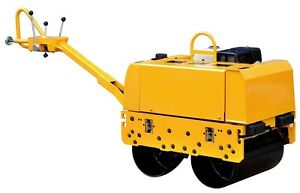 Vibratory Roller 1 300 Lbs With Honda Gx390 For Road And Asphalt Teqmac