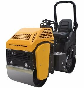 Vibratory Roller 2 000 Lbs With Honda Gx390 For Road And Asphalt Teqmac Equip