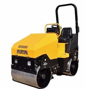 Vibratory Roller 3 200 Lbs With Honda 20hp Gas For Road And Asphalt Teqmac