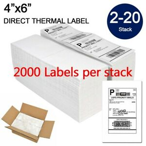 Fanfold 4 X 6 Direct Thermal Barcode Label Zebra 2844 Usps Ups Free Shipping