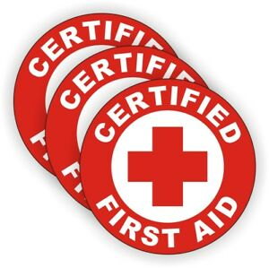 Certified First Aid Hard Hat Stickers Aed Emt Firefighter Rescue Helmet Decals