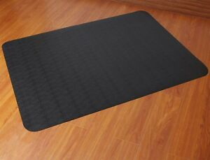 Computer Chair Mat For Hardwood Floor High Pile Heavy Duty Hard Wood Black New