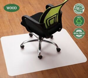 Office Computer Chair Mat For Hardwood Floor High Pile Heavy Duty Hard Wood New