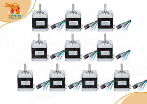 super 10pcs 42byghw609x1 Nema17 1 7a 4000g cm 2phase Stepper Motor 3d Printer