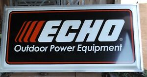 Echo Outdoor Power Equipment Double Sided Outdoor Illuminated Sign