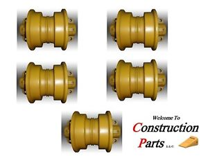 At185737 John Deere Rollers For 450 550 Size Machines set Of 5