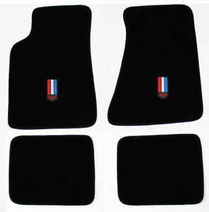 New Carpet Floor Mats 1982 2002 Chevy Camaro Embroidered Red White Blue Logo