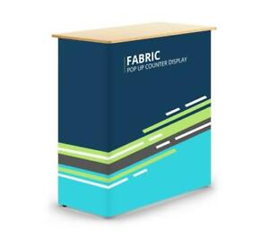 Fabric Pop Up Counter Display 5 25 X 2 75 Ft For Tradeshow Exhibition All Events