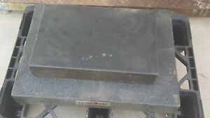 Used 2 Granite Surface Plates 24 X 18 18 X 12