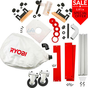 Ryobi Table Saw Accessory Kit Router Mounting Castors Dust Bag Plate Clamping