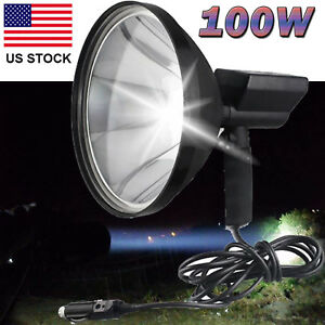 9 100w Handheld Hid Xenon Spotlight Driving Lights Hunting Search Light 6000k