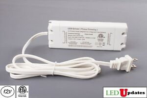 Ledupdates 12v 25w Triac Dimmable Power Supply Led Driver Ac To Dc Etl Listed