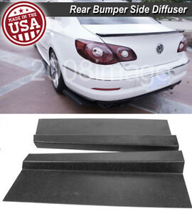 Pair 17 Rear Bumper Lip Apron Spoiler Splitter Diffuser Canard For Vw Porsch