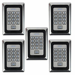 5pcs Home Door Access Control Entry System Luminous Keyboard Led Backlight Top