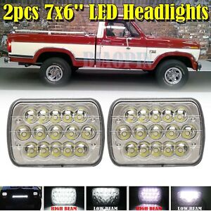 For 1978 1986 Ford F150 H6054 Led Sealed Beam Headlights Replace Hid Gmc C2500