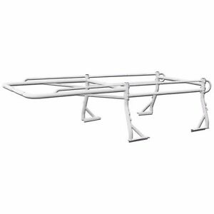 Heavy Duty 1000lb Pickup Truck Ladder Rack Contractor Lumber Kayak Utility White