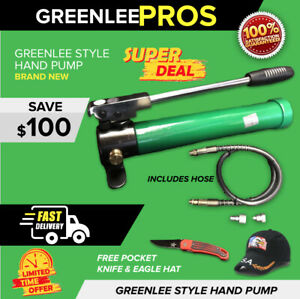 Greenlee Style Hydraulic Hand Pump With Hose Brand New Fast Ship