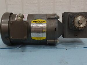 Baldor Vm3538 Electric Motor 5hp 1725rpm 3ph W boston Gear Reducer Ratio 20