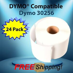 300 Labels Per Roll Dymo Compatible 30256 Turbo 24 Roll Direct Thermal Bpa Free