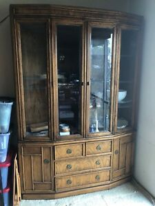 Vintage American Of Martinsville Credenza China Cabinet Mid Century Design