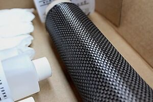 Real Carbon Fiber Fabric 6 X 36 Skinning Laminating Wrapping Kit Plain Weave