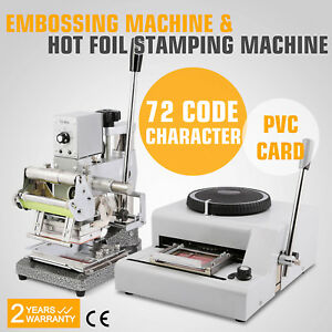 72 Character Embossing Machine Hot Foil Stamping Printer Printer Credit Card