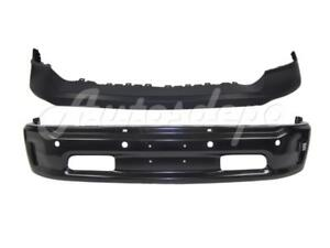 Front Bumper Upper Face Bar Black W Fog Sensor Hole For 2013 2017 Dodge Ram 1500